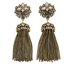 "Heidi Daus ""Stop the Show Stunner"" Tassel Drop Earrings"