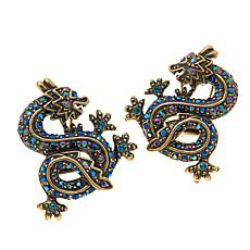 "Heidi Daus ""Sublime Serpent"" Crystal Earrings"