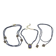 "Heidi Daus ""The Deco Trilogy"" 3-piece Beaded Necklace Set"