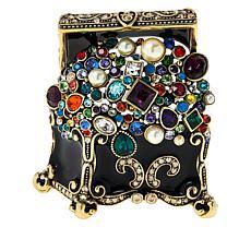 """Heidi Daus """"Treasure Chest"""" Crystal and Enamel Pin"""