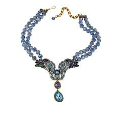 "Heidi Daus ""Unbreakable Bond"" Beaded Crystal Drop Necklace"