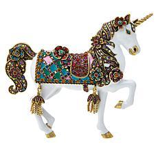 "Heidi Daus ""Unicorn Queen"" Enamel and Crystal Pin"