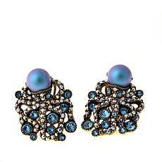 "Heidi Daus ""Water Ballet"" Crystal Earrings"