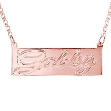 Heights Jewelers Personalized Double 3D Nameplate Necklace - Plated