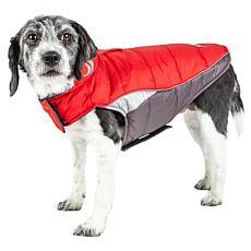 Helios Medium Hurricane-Waded Plush Reflective Dog Coat