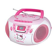 Hello Kitty Stereo CD Boombox with Cassette Player