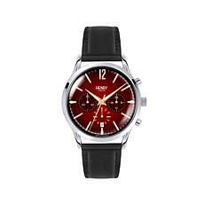 "Henry London ""Chancery"" Red 3-Subdial Chronograph Watch"