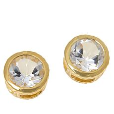 "Herkimer Mines ""Diamond"" Quartz 7mm Round Stud Earrings"