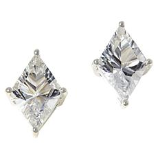 "Herkimer Mines ""Diamond"" Quartz Geometric Stud Earrings"