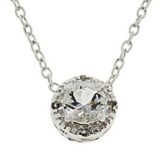 "Herkimer Mines ""Diamond"" Quartz Halo Drop Necklace"