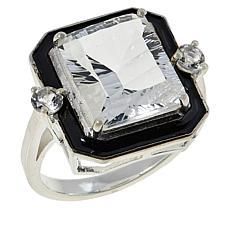 "Herkimer Mines ""Diamond"" Quartz Special-Cut Octagon Ring"