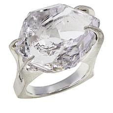 "Herkimer Mines Sterling Silver ""Diamond"" Quartz ""Mambo"" Ring"
