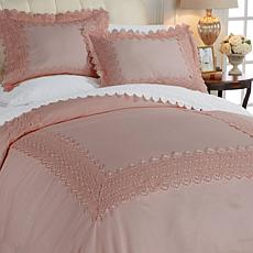 Highgate Manor Kensington Lace 500TC 3-piece Duvet Set
