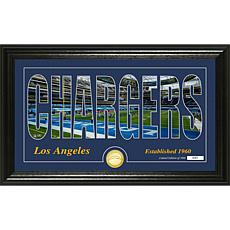 """Highland Mint Los Angeles Chargers """"Silhouette"""" Bronze Coin Photo Mint"""