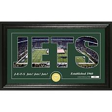 """Highland Mint New York Jets """"Silhouette"""" Bronze Coin Photo Mint"""