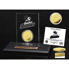 Highland Mint San Jose Sharks Gold Coin Etched Acrylic