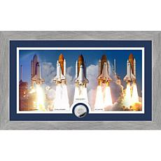 Highland Mint Space Shuttle Program Shuttle Launch Coin Photo Mint