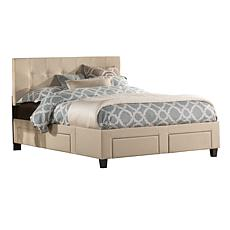 Hillsdale Furniture Duggan 6-Drawer Storage Bed with Rails - King