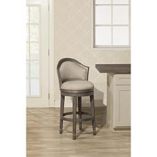 Hillsdale Furniture Monae Swivel Barstool - Dark Gray
