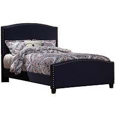 Hillsdale Kerstein King Bed with Rails - Navy Linen