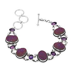 Himalayan Gems™ Oval Drusy and Gemstone Line Bracelet