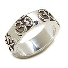 """Himalayan Gems™ Oxidized Sterling Silver """"Om"""" Band Ring"""