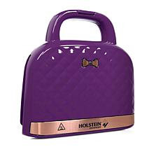 Holstein 2-Section Pocketbook Waffle Maker
