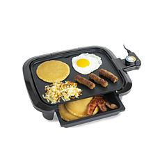 HomeCraft HCGDWD90BK Non-Stick Griddle With Warming Drawer, 10.5x8.5