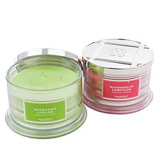 HomeWorx by Harry Slatkin 2-pack 4-Wick Candles - Fruit Collection