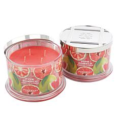 HomeWorx by Harry Slatkin 2-pack 4-Wick Candles - Pink Pomelo