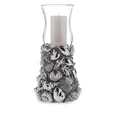 HomeWorx by Harry Slatkin Seashell Hurricane Pillar Candle