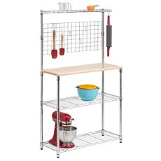 Honey-Can-Do Chrome-Finish 2-Shelf Urban Baker's Rack