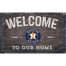Houston Astros 11x19 Welcome to our Home Sign