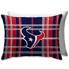 "Houston Texans PLUSH PLAID Sherpa 20x26"" Bed Pillow"