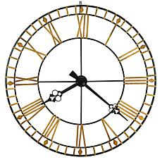 "Howard Miller ""Avante""  Large Classic Style Wrought Iron Wall Clock"