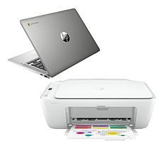 "HP 14"" Touch Intel 4GB RAM 128GB SSD Chromebook with Deskjet Printer"