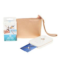 HP Sprocket Portable Photo Printer with Case and 30-pack Paper