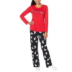 HUE 2-piece Pajama Set with Fuzzy Socks - Missy