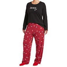 HUE 2-piece Pajama Set with Fuzzy Socks - Plus