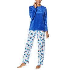 HUE 2-piece Sueded Fleece Pajama Set