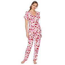 HUE 2-piece Valentine's Day Sleepwear Set - Missy