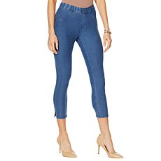 HUE Essential Denim Capri Legging - Plus