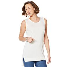 HUE Hi-Low Tunic Tank Top - Missy