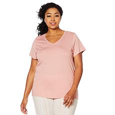 HUE Short-Sleeve V-Neck Tee - Plus
