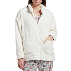 HUE Zip-Front Bed Jacket with Pockets