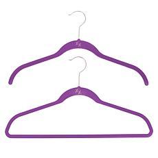 Huggable Hangers with Odor Eliminators Chrome 74-piece Set