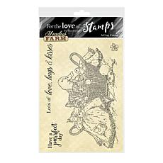 Hunkydory Crafts For the Love of Stamps - A Cozy Catnap A6 Stamp Set