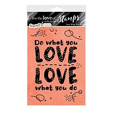 Hunkydory Crafts For the Love of Stamps - Love What You Do A6 Set