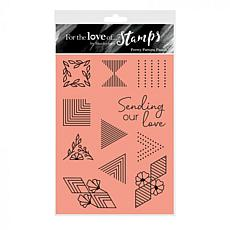 Hunkydory Crafts For the Love of Stamps - Pretty Pattern Panels A6 Set