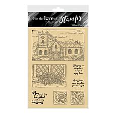Hunkydory Crafts For the Love of Stamps - Village Church A6 Stamp Set